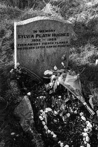 plath's grave
