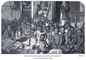 African children on Slave Ship