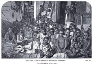 African children on Slave Ship